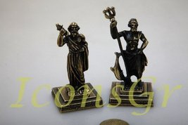 Ancient Greek Zamac Miniature Statues Set of 2 Pieces - 5655 [Kitchen] - $19.50