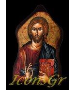 Wooden Greek Christian Orthodox Wood Icon of Jesus Christ / Mp1 [Kitchen] - $12.25