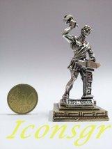 Ancient Greek Zamac Miniature Statue of Hephestus (1665-silver) [Home] - $12.64