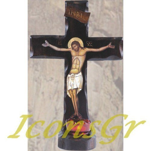 Wooden Handmade Christian Orthodox Greek Wood Cross / 5 [Kitchen]