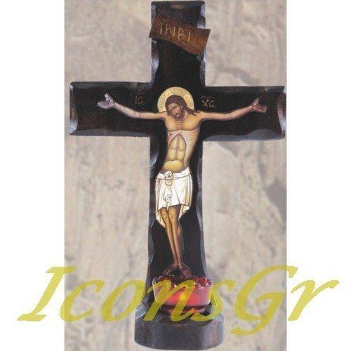 Wooden Handmade Christian Orthodox Greek Wood Cross / 5 [Kitchen] - $84.87