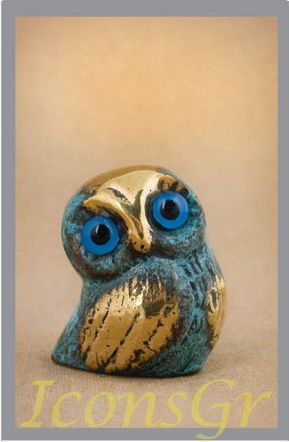 Ancient Greek Bronze Museum Statue Replica of Owl (549) [Kitchen]