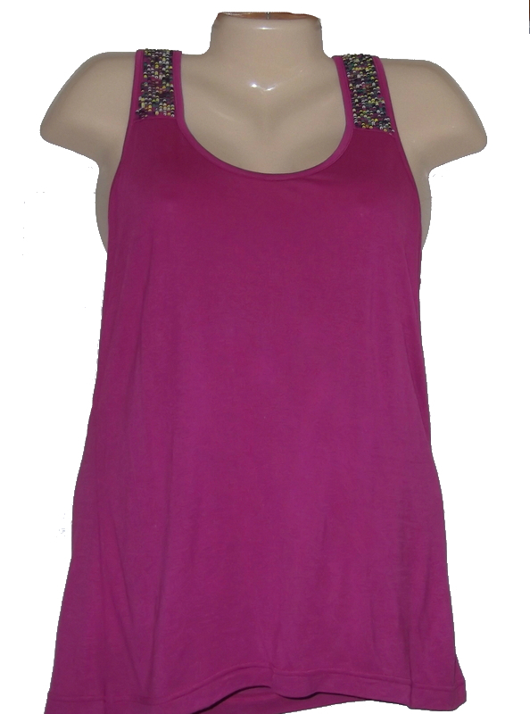 Buffalo pink sequin tank top