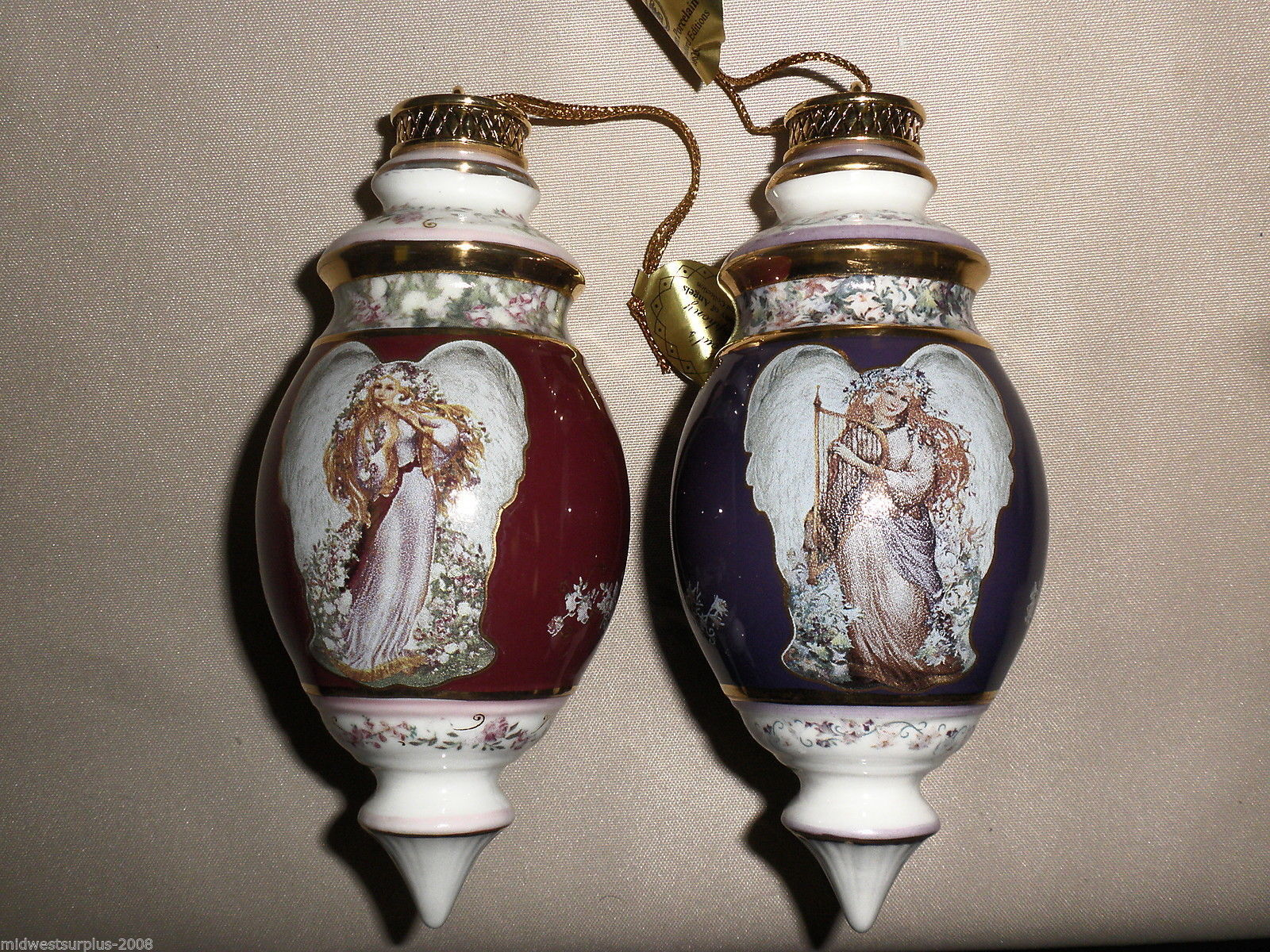 Bradford Editions 6th Issue A Symphony Of Angels Ornaments Collection(2) #68626
