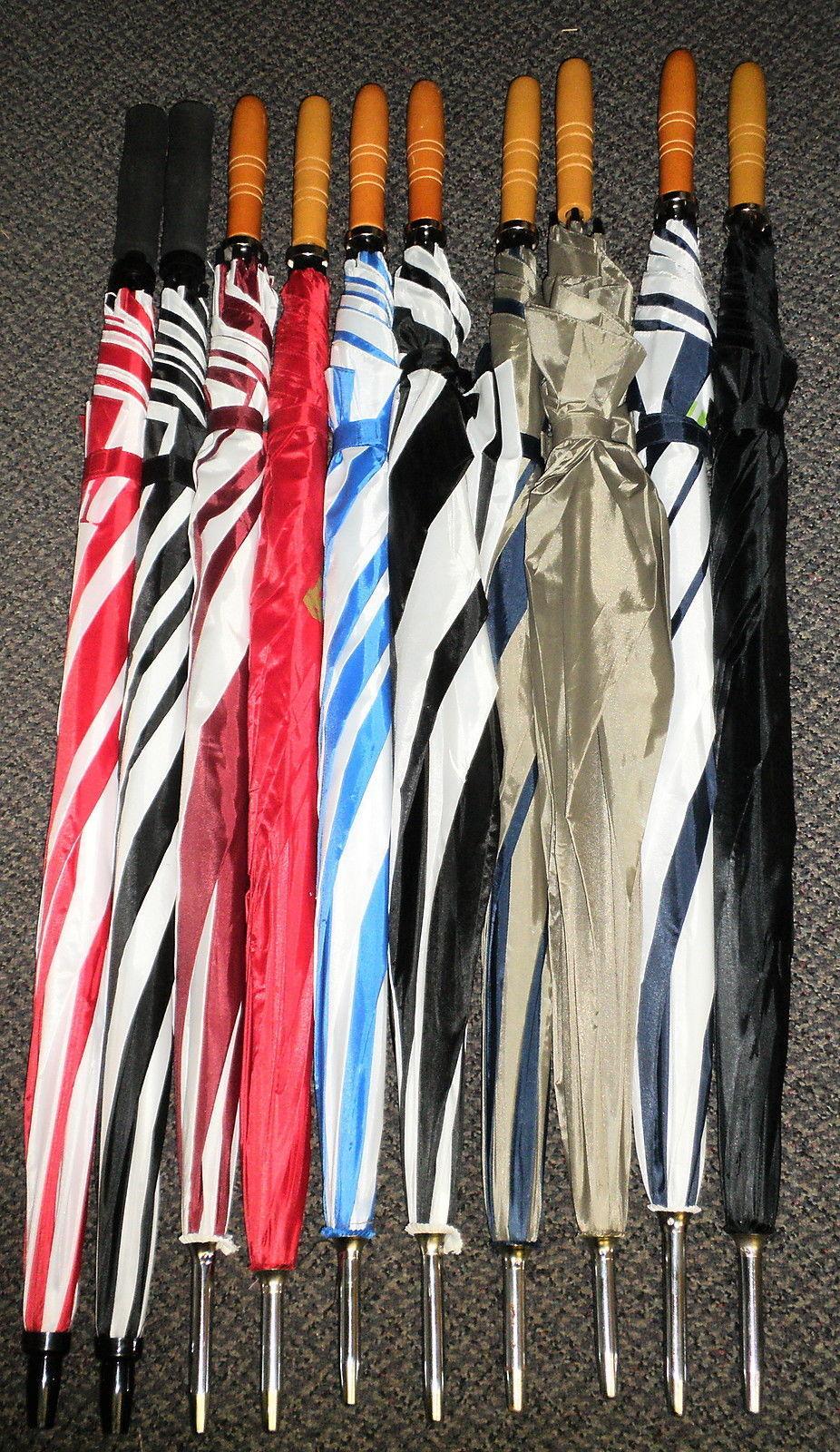 "Vitronic 46"" X 39 3/4"" Large Umbrella - Multi Colored, Variety Logos,"