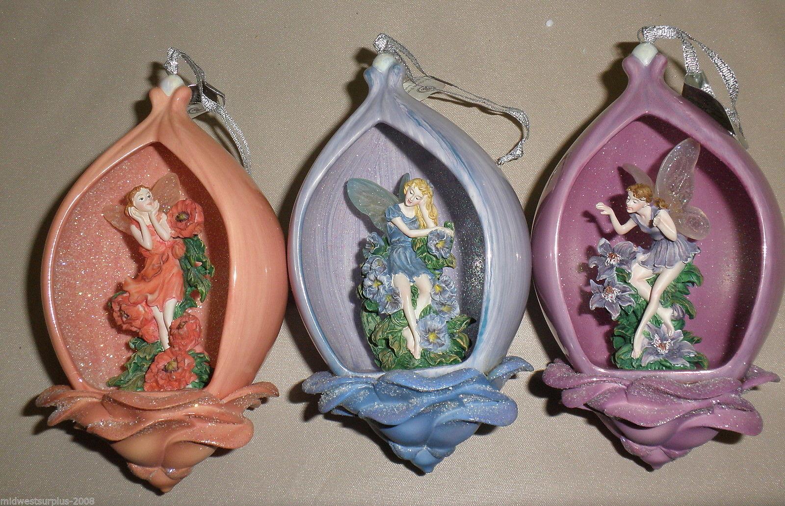 Bradford Edition 5th Issue Secret Garden Heirloom Porcelain Ornaments (3) #38855