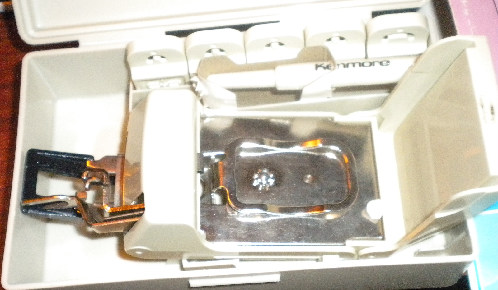 Kenmore Vintage Buttonholer Attachment #20-6739 In Case & Slip Case Used Works