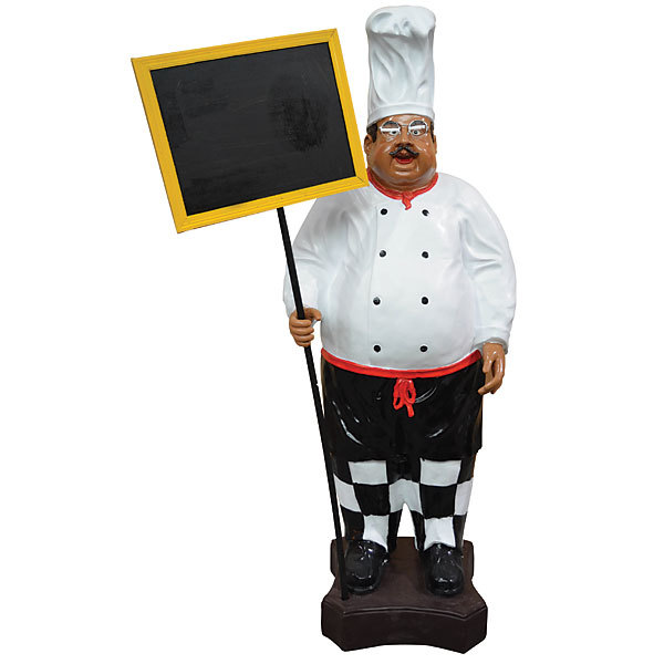 Restaurant Kitchen Chef with Menu Board Signs/Decor,63''tall!