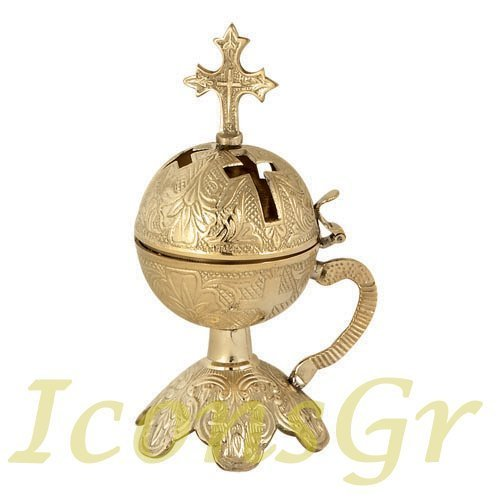 Christian Orthodox Greek Censer (9880-b)