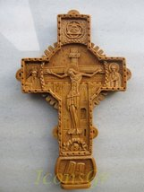 Handmade Carved Aromatic Wax Cross Blessed From Mount Athos Byzantine Style 232 - $56.84