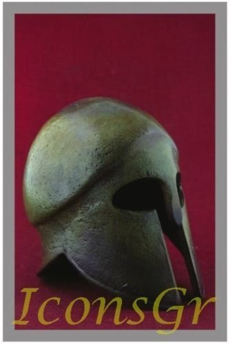 Ancient Greek Bronze Museum Replica of Corinthian Helmet (1378) [Kitchen]