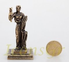 Ancient Greek Zamac Miniature Statue of Dimitra (Gold) [Kitchen] - $12.64