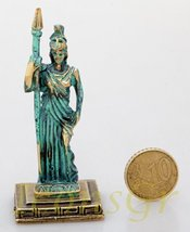 Ancient Greek Zamac Miniature Statue of Athena (Green/gold) [Kitchen] - $12.64