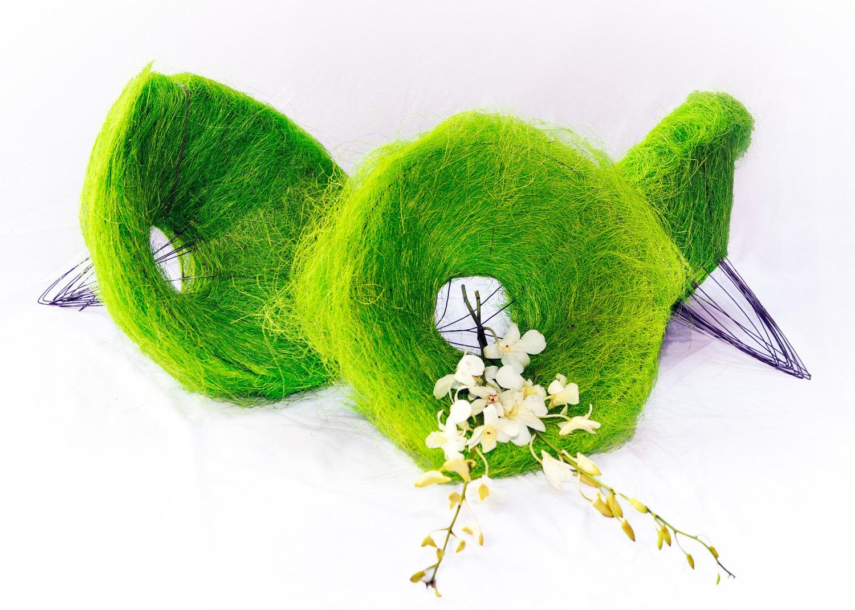 12 pcs Sisal Flowers Bouquet Holder Florist Floral 30cm GREEN Presen Gift  Weddi