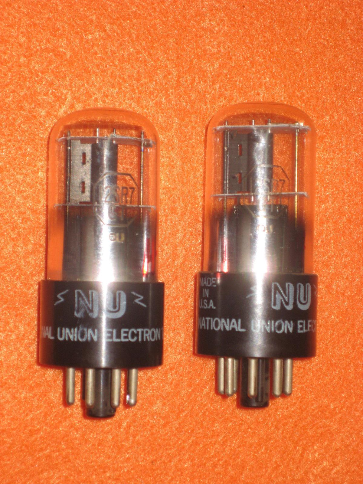 Vintage Radio Vacuum Tube (one): 12SR7 12SR7GT - Tested Good