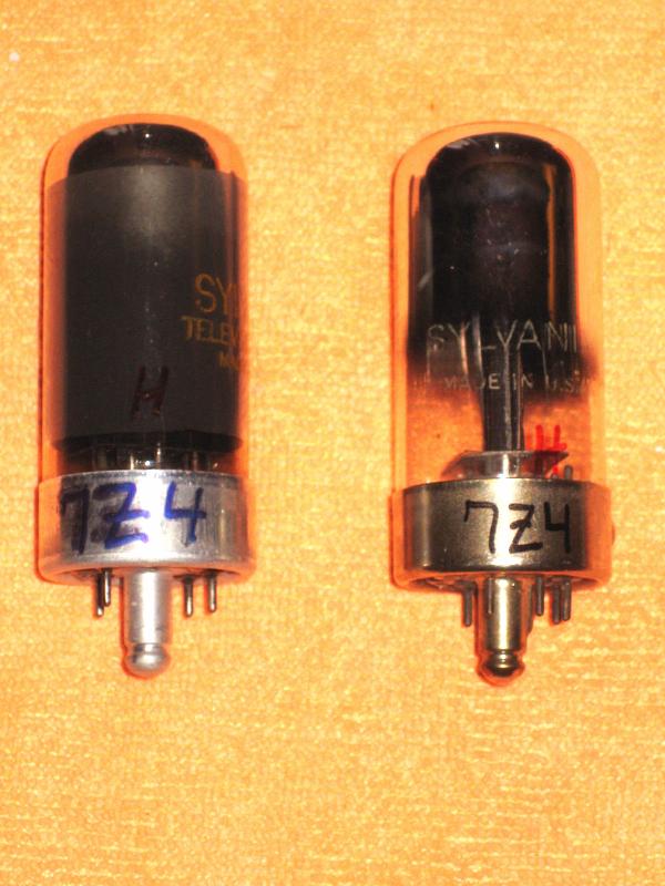Vintage Radio Vacuum Tube (one): 7Z4 - Tested Good