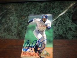 BIP ROBERTS HAND SIGNED 1994 FLEER EXTRA BASES BASEBALL CARD PADRES - $3.00