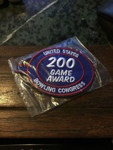 USBC (UNITED STATES BOWLING CONGRESS) 200 GAME AWARD KEYCHAIN - $3.00
