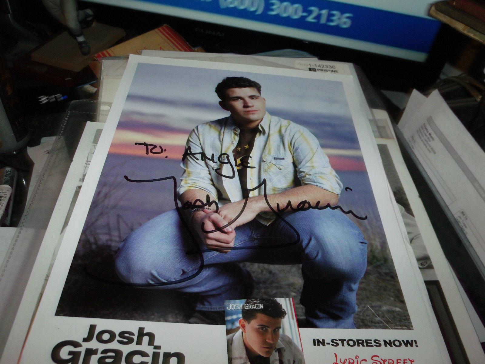 JOSH GRACIN HAND SIGNED 8X10 PHOTO W/ BONUS PROMO MATERIAL