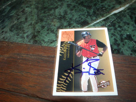 KIMERA BARTEE HAND SIGNED 1994 FLEER EXCEL BASEBALL CARD TIGERS - $4.20
