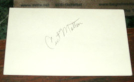 CURT MOTTON HAND SIGNED INDEX CARD BALTIMORE ORIOLES BASEBALL - $7.25