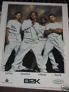B2K SIGNED PROMOTIONAL 8X10 PHOTO BY ALL 4 OMARION LIL FIZZ RAZ-B J-BOOG