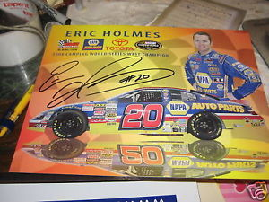 ERIC HOLMES HAND SIGNED 2010 NASCAR PHOTO
