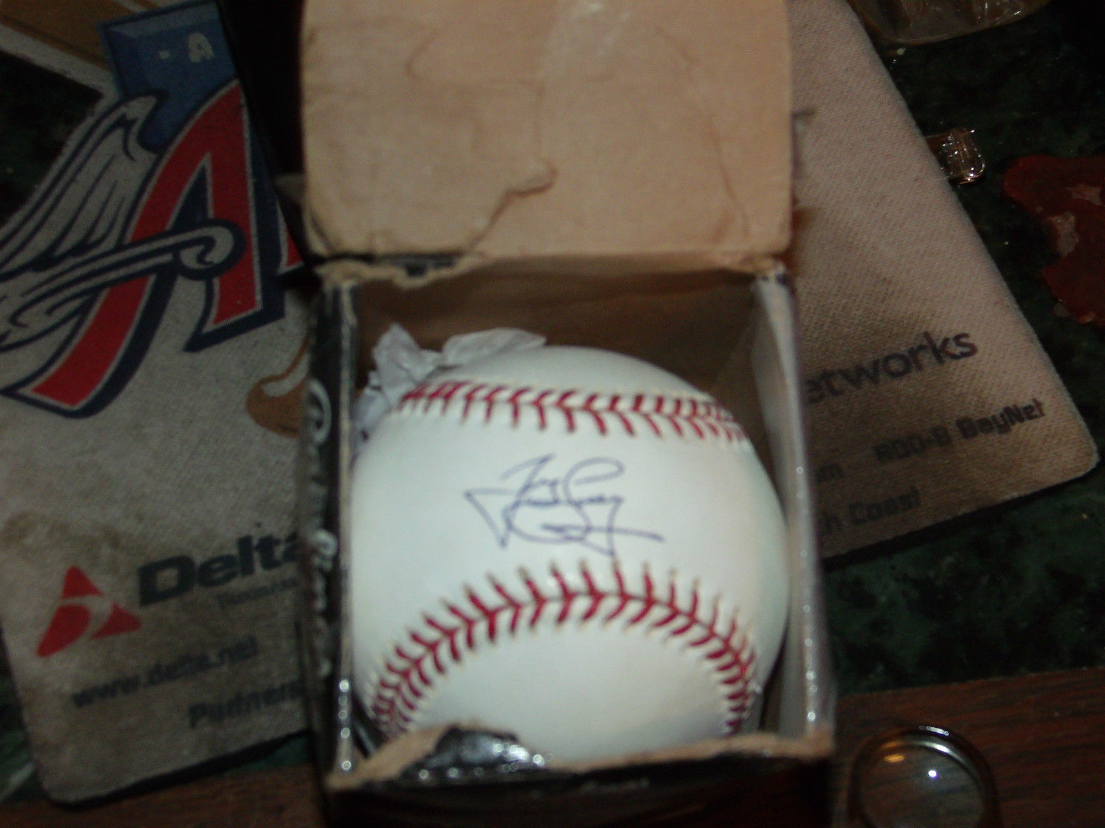 JAMES LONEY SIGNED MLB OFFICIAL BASEBALL LA DODGERS