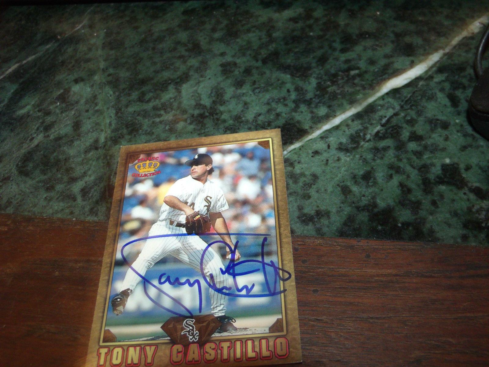 TONY CASTILLO HAND SIGNED 1997 PACIFIC BASEBALL CARD WHITE SOX