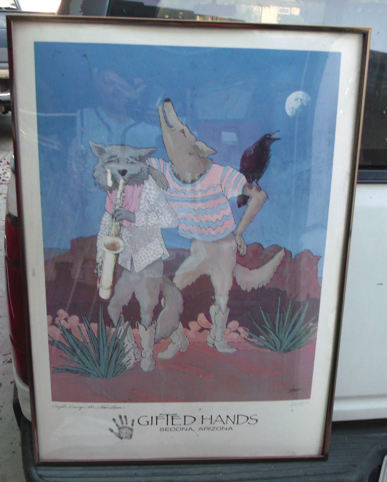 COYOTE SINGS THE NOON MOON SIGNED 20X28 POSTER BY DEANNE GIFTED HANDS