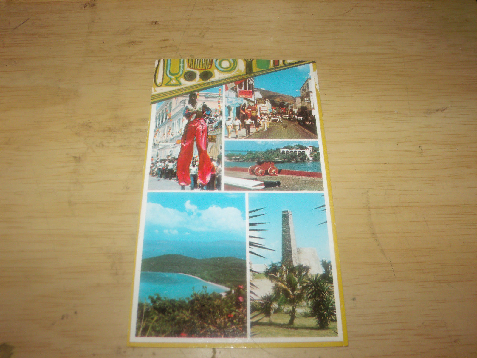 COLLAGE US VIRGIN ISLANDS VINTAGE UNUSED POSTCARD