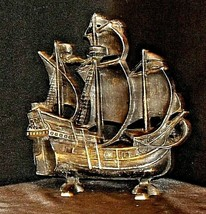 Metal Spanish Galleon Ship Door Stop AG54 AA20-7065 Vintage Collectible