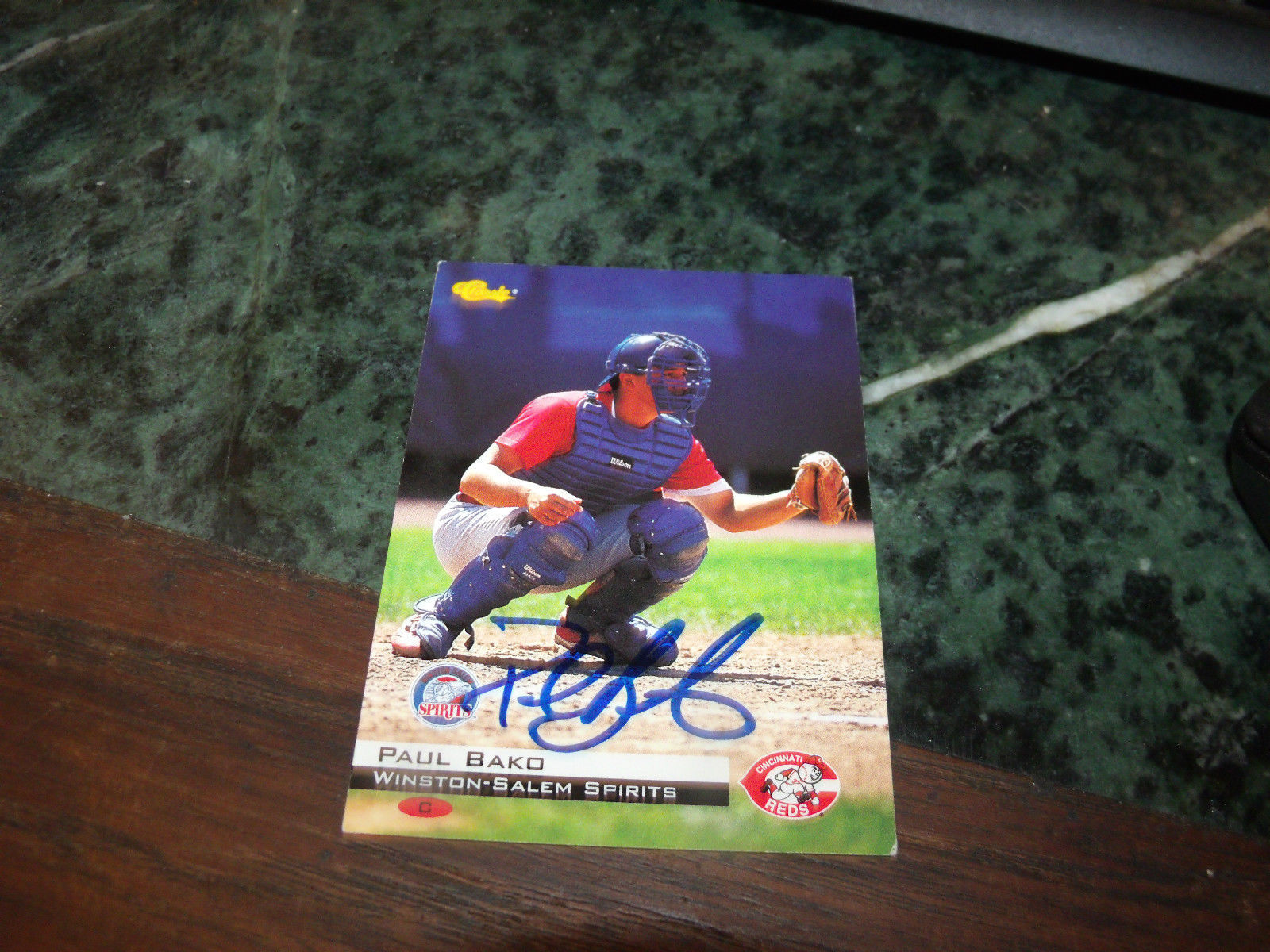 PAUL BAKO HAND SIGNED 1994 CLASSIC BASEBALL CARD REDS