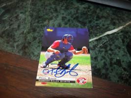 PAUL BAKO HAND SIGNED 1994 CLASSIC BASEBALL CARD REDS - $4.20