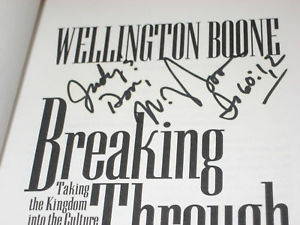 Breaking Through SIGNED BY WELLINGTON BOONE 1ST/1ST