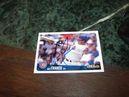 Matt Franco Hand Signed 1996 Upper Deck Baseball Card Cubs - $4.20
