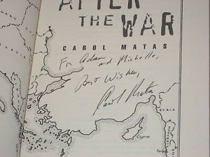 After the War SIGNED by Carol Matas 1ST/1ST