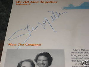 WE ALL LIVE TOGETHER SIGNED BY STEVE MILLANG LPRECORD  INSERT