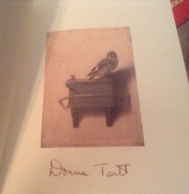 THE GOLDFINCH SIGNED BY DONNA TARTT 1ST/1ST HARDCOVER