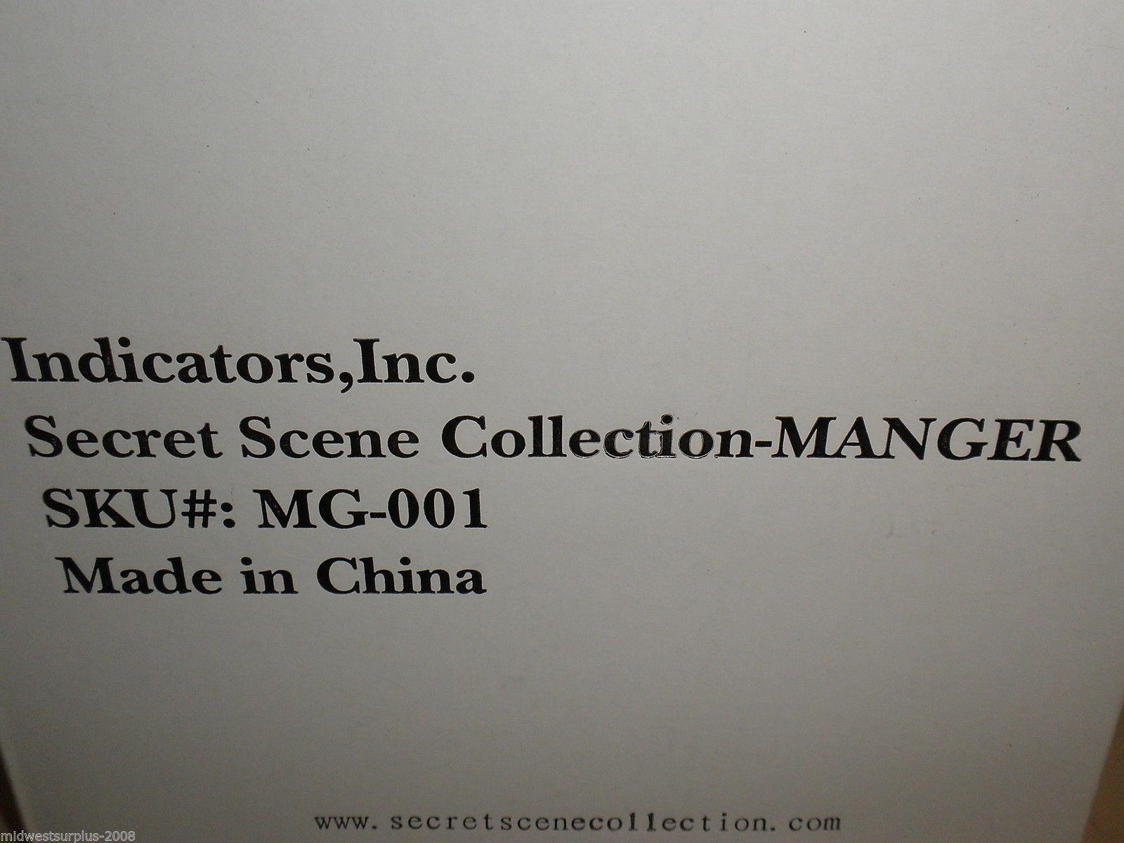 Indicators Inc Secret Scene Collection - Manger Candle Holder #MG-001