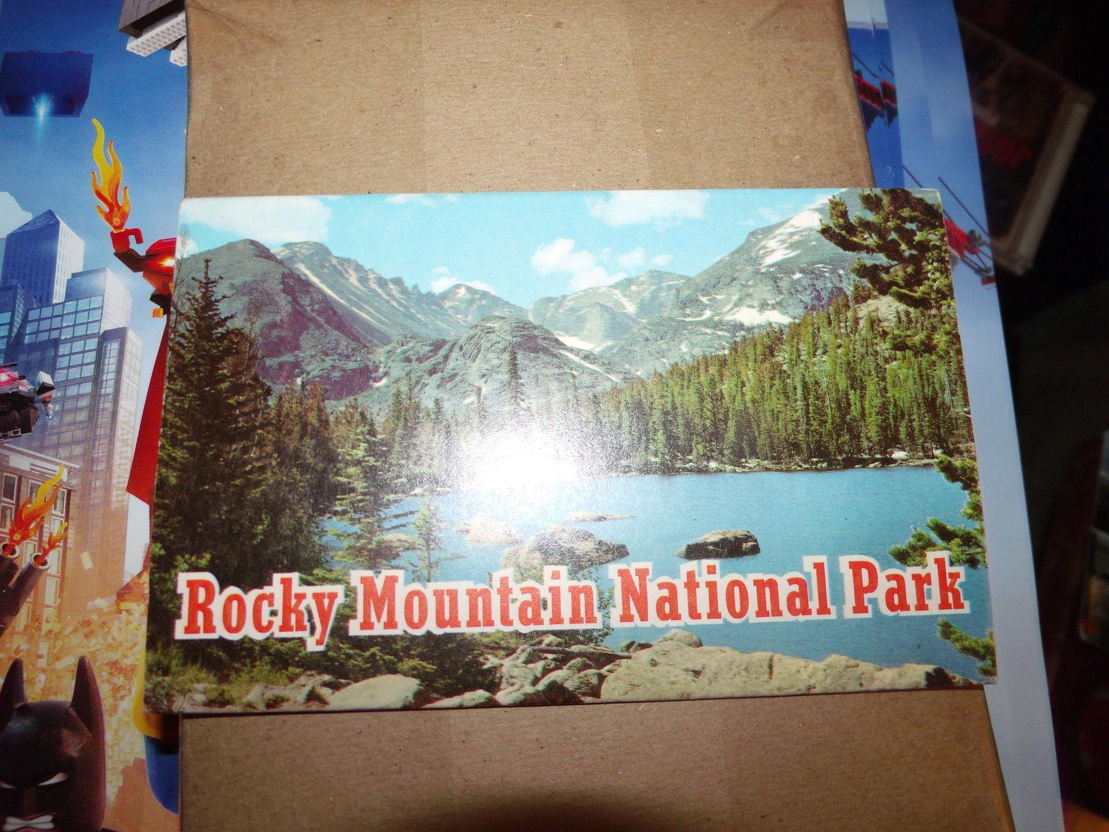 ROCKY MOUNTAIN NATIONAL PARK VINTAGE UNUSED FOLDOUT POSTCARD BOOKLET