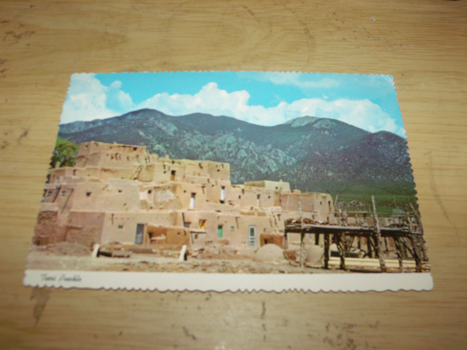 TAOS PUEBLO NEW MEXICO VINTAGE UNUSED POSTCARD
