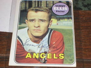 SAMMY ELLIS HAND SIGNED 1969 TOPPS CARD
