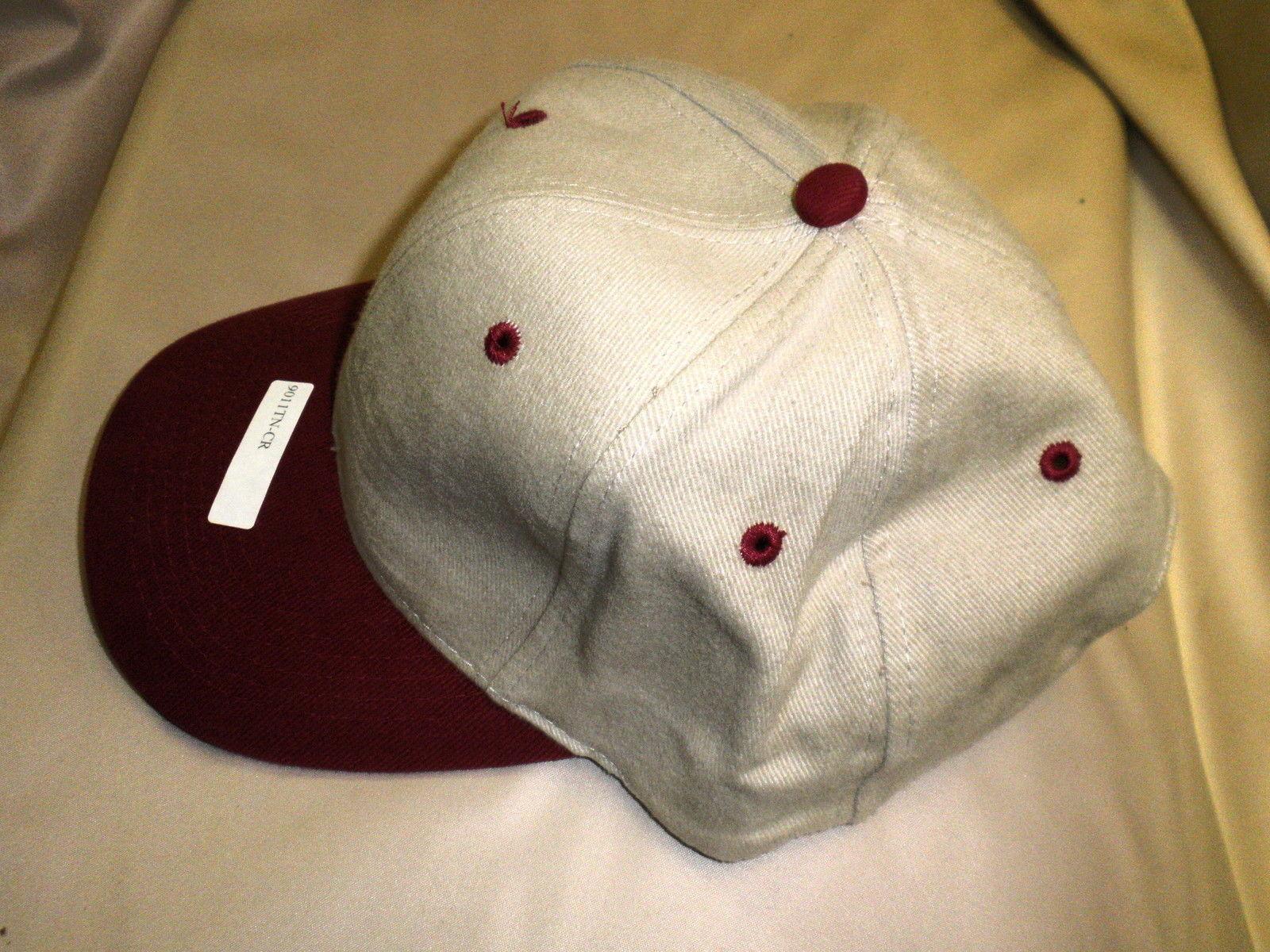 Falcon Baseball Cap Tan / Cranberry  #9011TN/CR