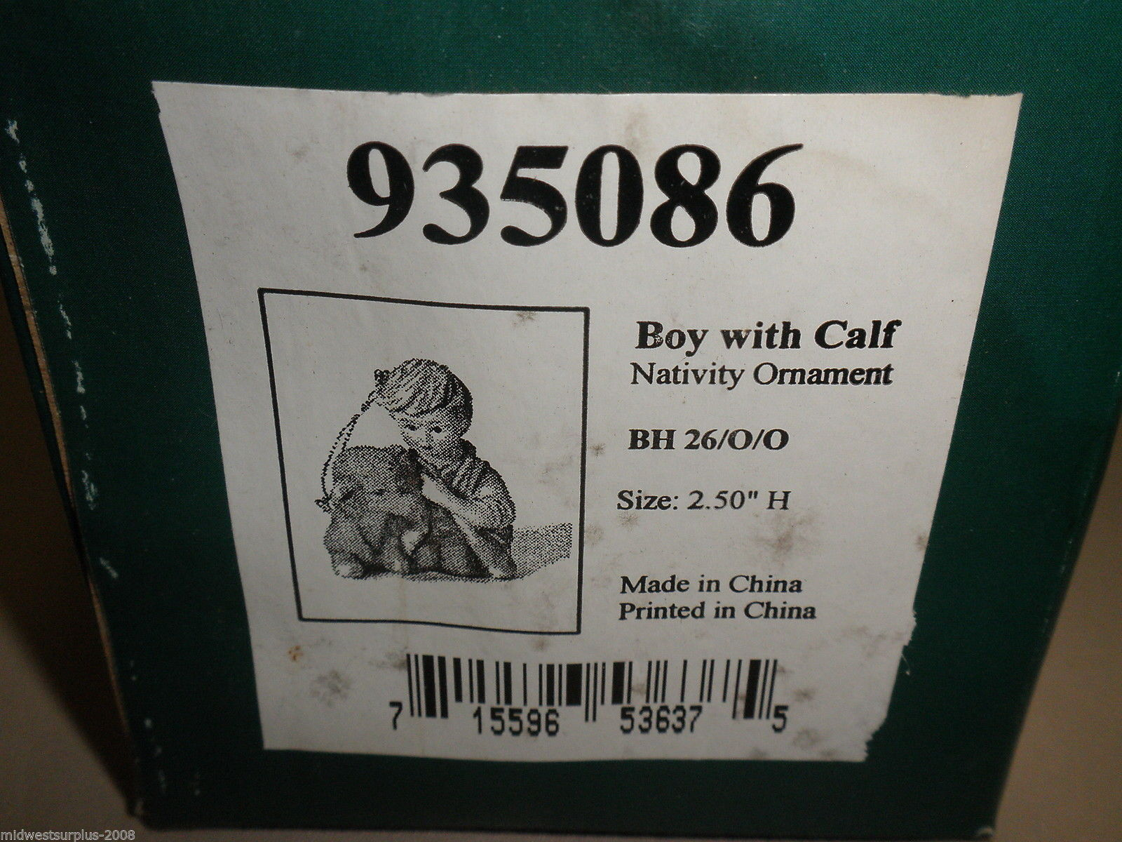 Goebel Berta Hummel Boy with Calf Nativity Ornament #935086
