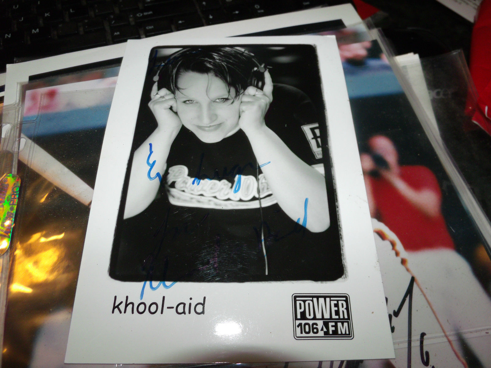 KHOOL-AID HAND SIGNED 5X7 PUBLICITY PHOTO POWER 106