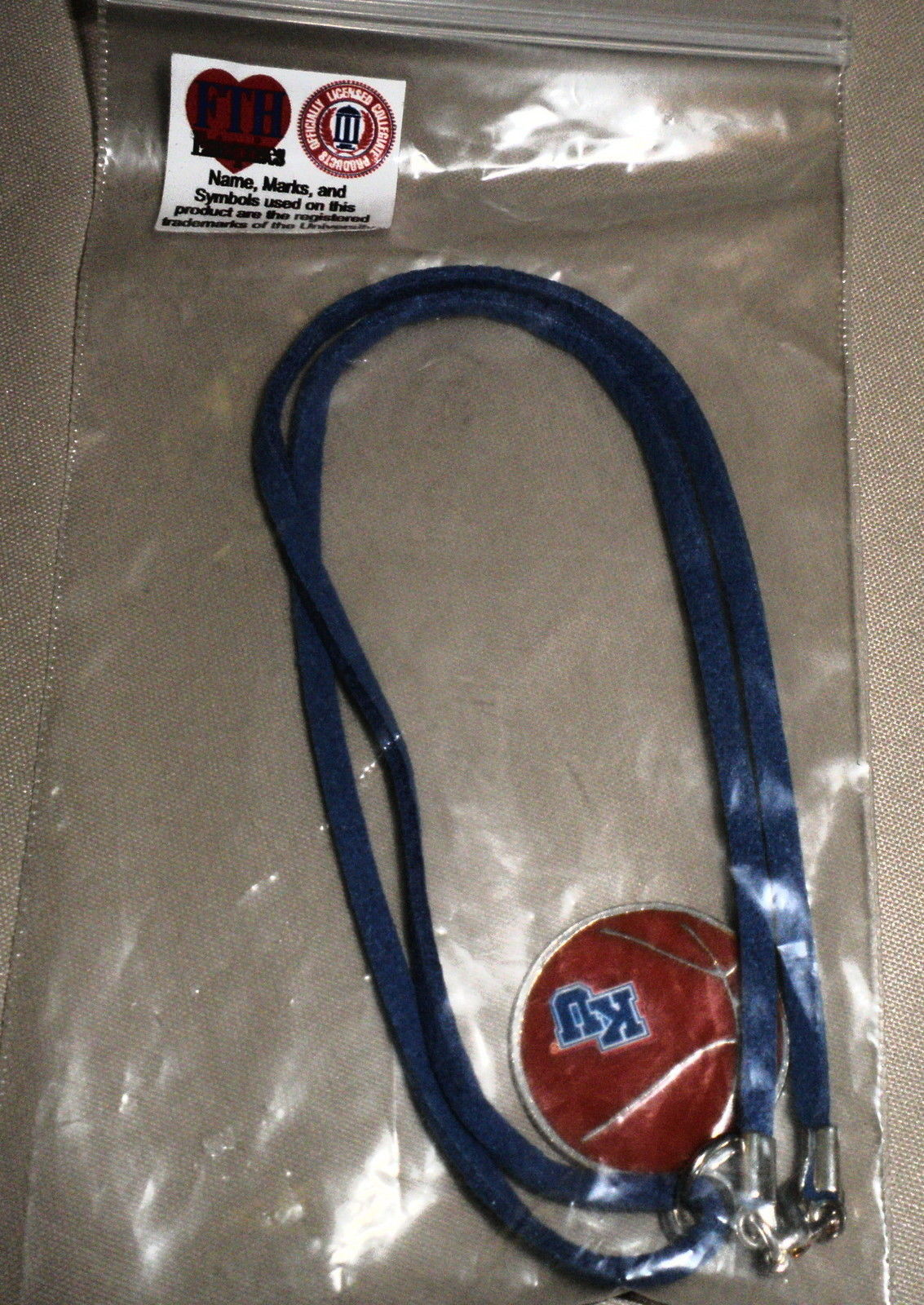 "FTH Enterprises 20"" KU Basketball Necklace #0009705"