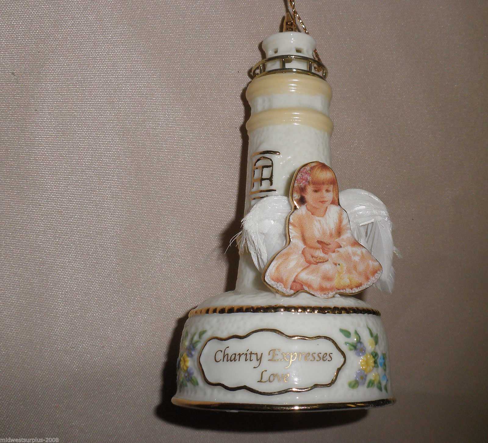 Bradford Edition 3rd Issue Guiding Light Heirloom Porcelain Ornaments (3) #39073