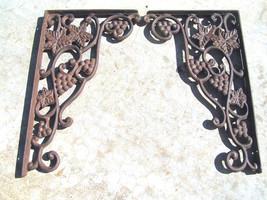 Cast Iron Brackets Kitchen Island Corbels GRAPE Corner Shelf Braces HEAV... - $69.98