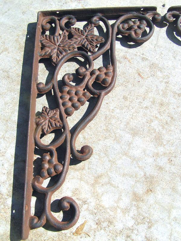 Cast Iron Brackets Kitchen Island Corbels GRAPE Corner Shelf Braces HEAVY bz